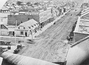 Rideau and Dalhousie Street in 1860