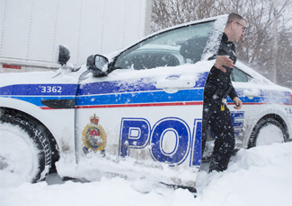 Officer locates missing elderly man in blizzard