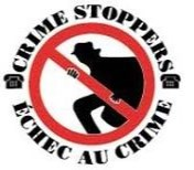 Logo for Crime Stoppers. Button to visit the Crime Stoppers website
