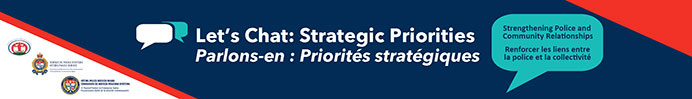 "graphic with the text, ""Let's Chat: Strategic Priorities"