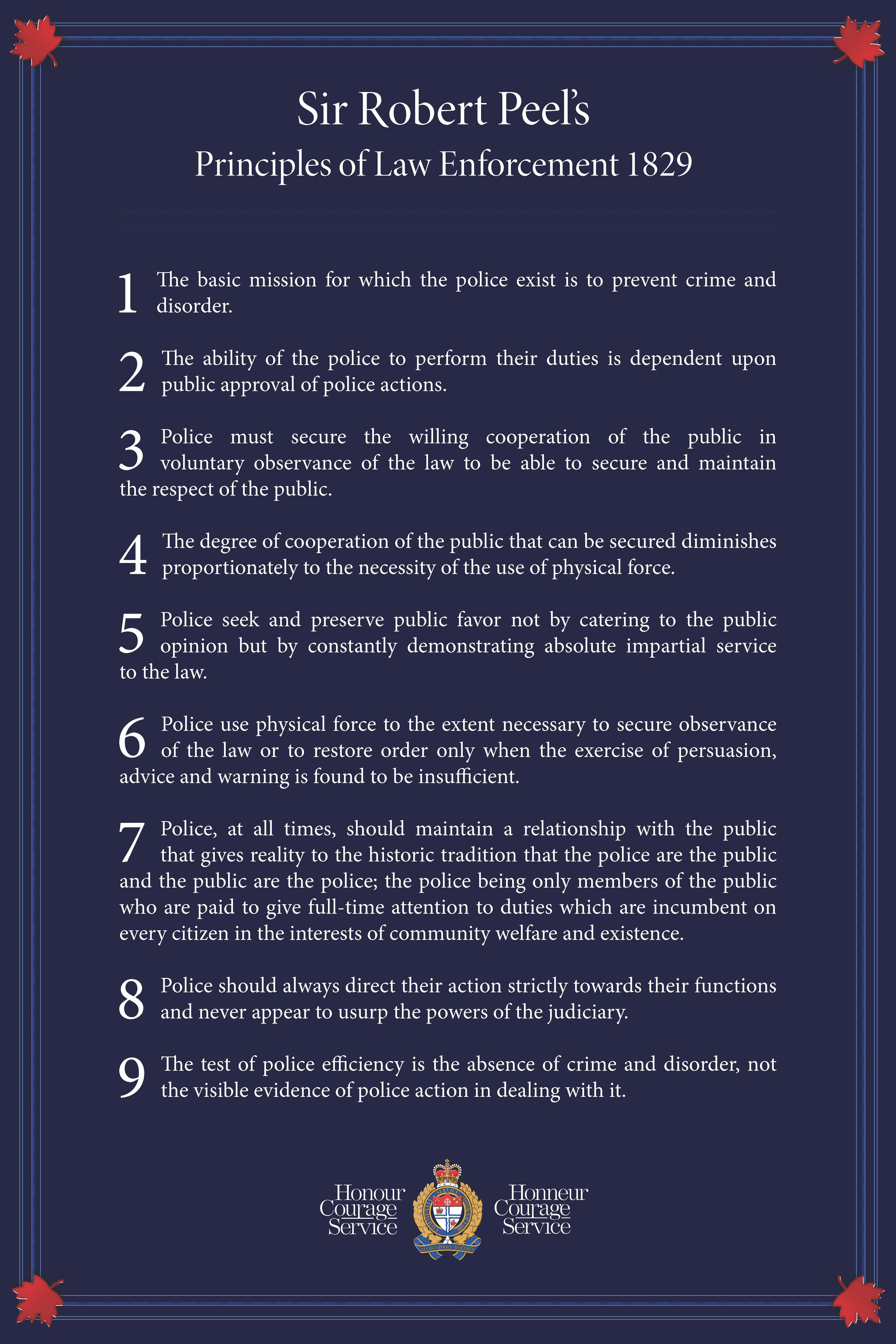 Principles of Law Enforcement