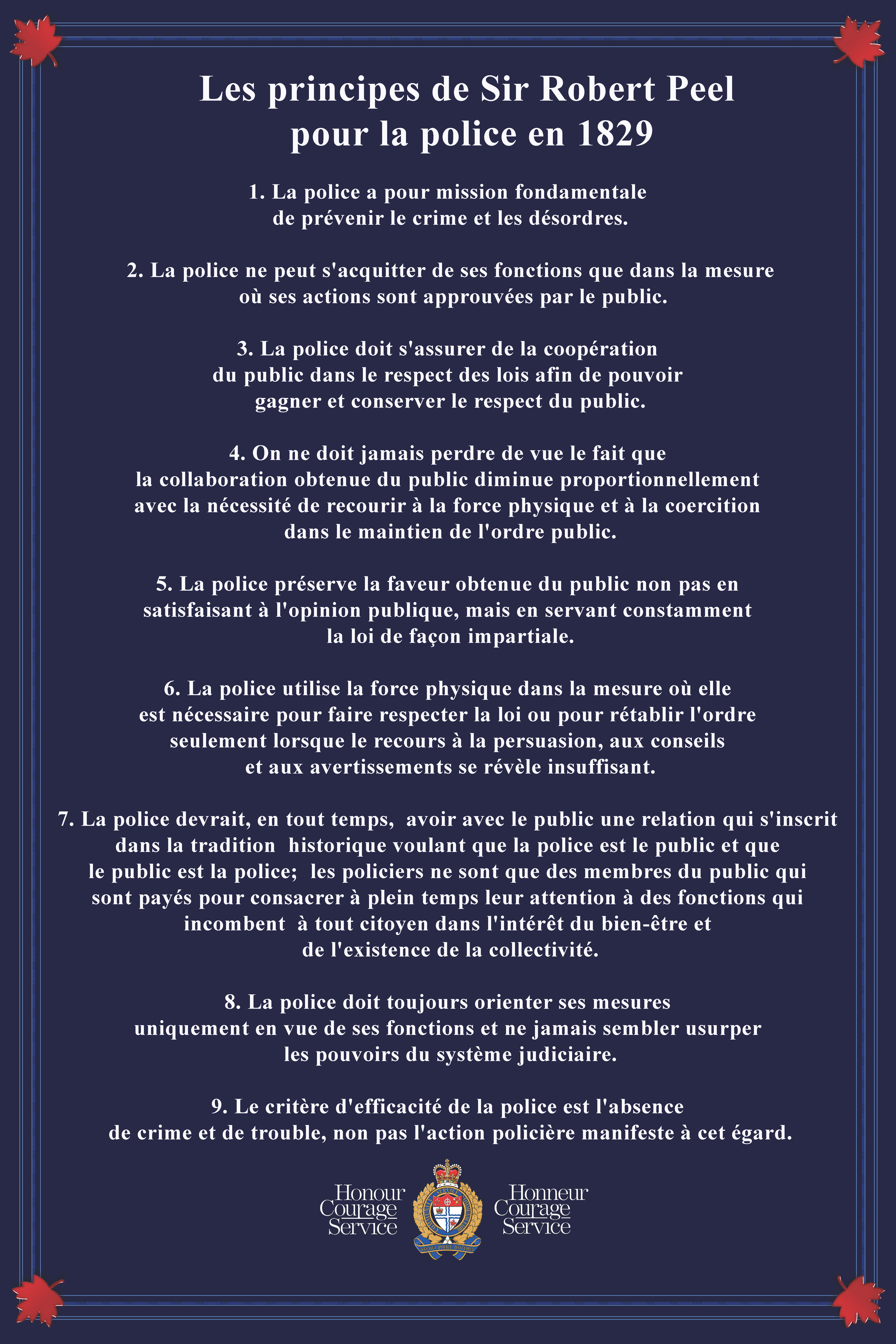 Les principles de Sir Robert Peel