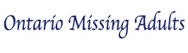 Ontario Missing Adults