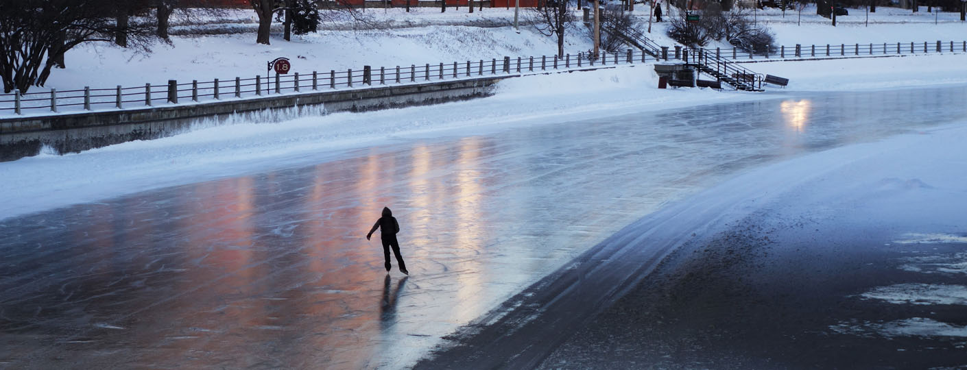 rideau canal with ice