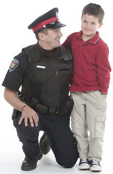 Police Officer and his son.