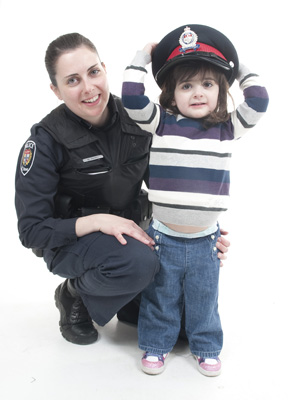 Police Officer and her daughter
