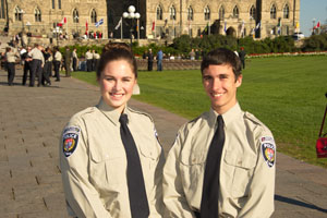 Venturers at the Annual Police Memorial on Parliament Hill.
