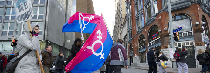 The Annual Transgender Day of Remembrance Memorial March