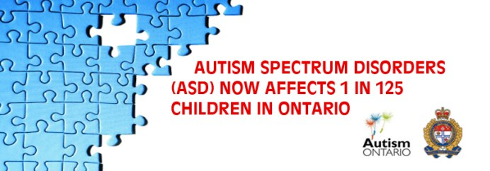Autism spectrum disorders now affects 1 in 125 children in Ontario.
