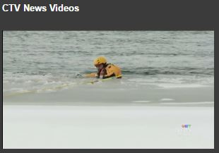Thumbnail of Ottawa Police diver in the water