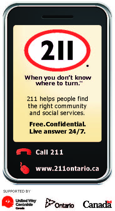 When you don't know where to turn. Call 2-1-1 for resources and information.